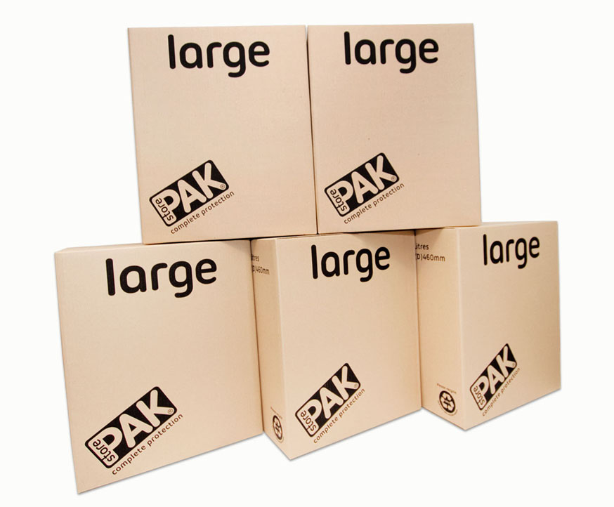 cookes storage large cardboard box x5