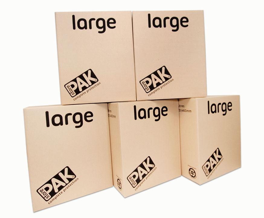 cookes storage large cardboard box x5