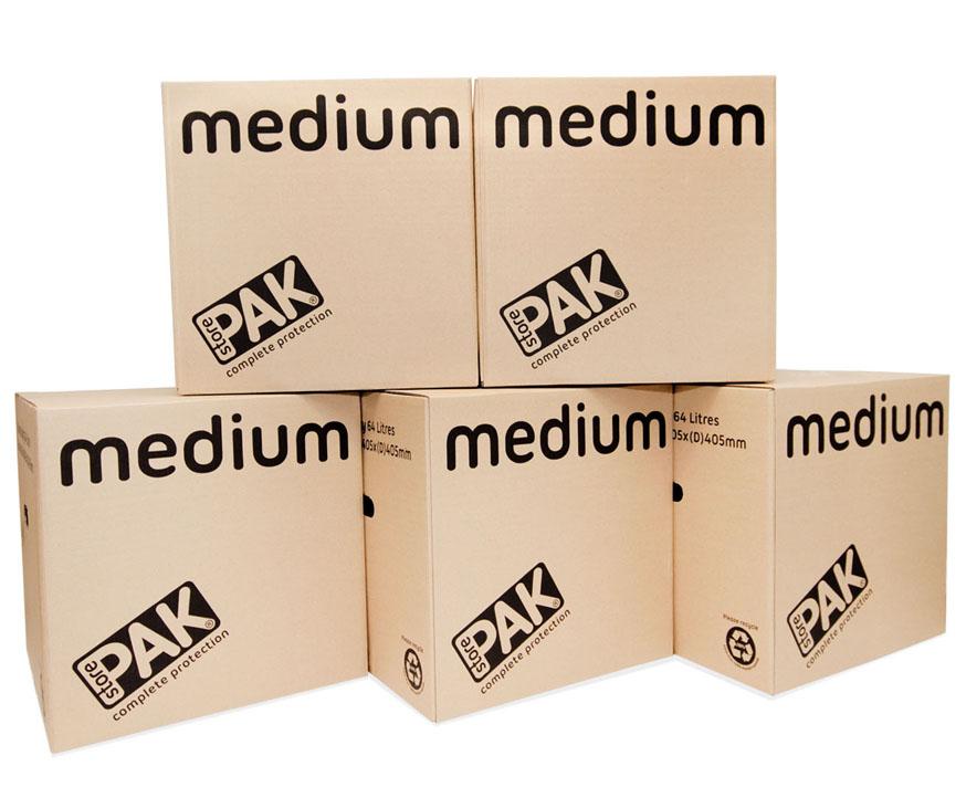 cookes storage medium cardboard box x5