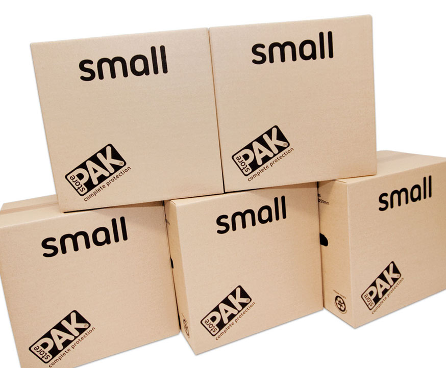 cookes storage small cardboard box x5