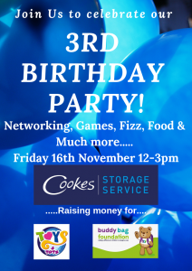 We're having a party, and you're invited. Cookes Storage Service