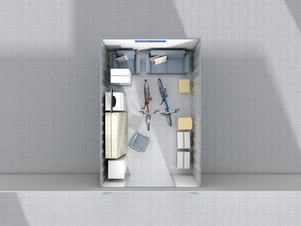 150 sq ft Unit Cookes Storage Service