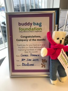Joining the Buddy Bag Brigade Cookes Storage Service
