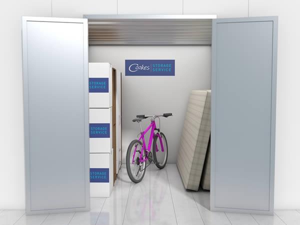 75 sq ft unit Cookes Storage Service